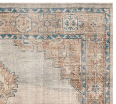 Finn Hand-Knotted Rug - Blue Multi - foyer rug, swatch available Synthetic Rugs, Blue Palette, Custom Rugs, Natural Rug, Carpet Runner, Throw Rugs, Large Rugs, Hand Knotted Rugs, Pottery Barn