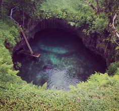"Home Sweet Home. #Samoa ""To Sua Trench"""