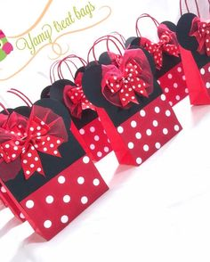 Details about Minnie mouse/ mickey mouse party bags /loot bags/ bespoke party bag Minnie Mouse Birthday Decorations, Minnie Mouse Theme Party, Minnie Mouse First Birthday, Red Minnie Mouse, Mickey Party, Mickey Mouse Birthday, Minnie Mouse Favors, Miki Mouse, Paper Party Bags