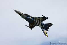 """Hellenic Air Force F-16 Demo Team - The Greek Air Force F-16 """"Zeus"""" making the teams UK airshow debut at the Royal International Air Tattoo 2015, RAF Fairford"""