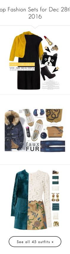 """""""Top Fashion Sets for Dec 28th, 2016"""" by polyvore ❤ liked on Polyvore featuring Jean-Paul Gaultier, MuuBaa, Chloe + Isabel, Yves Saint Laurent, Bamboo, Juicy Couture, fauxfurcoats, Levi's, Gola and Dries Van Noten"""