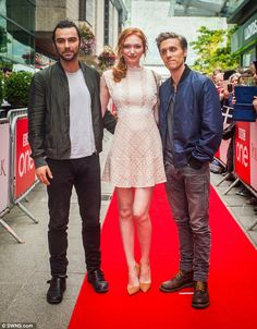 Her leading men: She was joined on the red carpet by the Hobbit star and Jack…