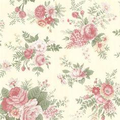 Rosa Pink Floral Medley Wallpaper