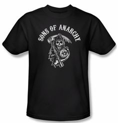 01b6342824ef Sons Of Anarchy Shirt Soa Reaper Adult Black Tee T-Shirt