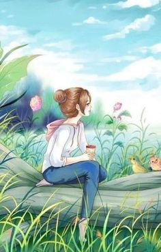 Read Fan Art Lonely girl from the story Cute Cartoon Girl, Cartoon Art, Cute Love Pictures, Cute Girl Wallpaper, Digital Art Girl, Cute Cartoon Wallpapers, Anime Scenery, Anime Art Girl, Cute Drawings