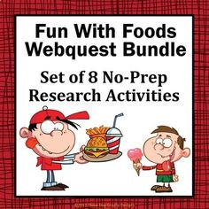 Do you know why bubble gum is usually pink? Your students will have fun learning some interesting facts about food as they reinforce their reading and research skills.  This bundle includes 8 no-prep webquests:  • Wacky Snack Food Facts Webquest • Ice Cream Treats Webquest • Chocolate Facts Webquest • Gum Facts Webquest • Wacky Food Facts Webquest • Candy Facts Webquest • Hot Dog Facts Webquest • Let's Learn About Donuts Webquest