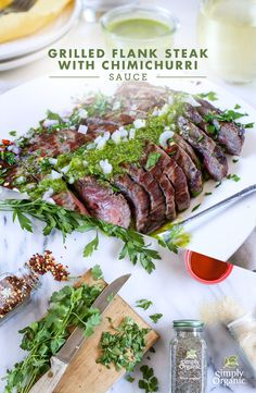 Dress up your grilled steak in the easiest way with this vibrant chimichurri sauce recipe. | via Simply Organic