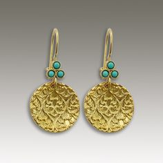 24k gold plated  Disc filigree earrings with by artisanimpact, $64.00