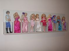 Barbie storage in playroom - Bargain Hunters - BabyCenter wonder how you make this?? is it a literature sorter/storage like in dentist offfice to store pamphlets?