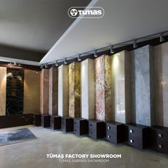 Tümaş marble, tile manufacturer, supplier, producer, exporter and marble projects in Turkey Denizli Showroom Interior Design, Tile Showroom, Interior Shop, Mall Design, Retail Design, Bookstore Design, Exterior Wall Design, Shop Facade, Stand Design