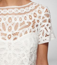 Battenburg lace dress by Lilly Pullitzer Latest Fashion For Women, Womens Fashion, Fashion Fashion, Fashion Ideas, Fashion Tips, Filet Crochet, Crochet Top, Fashion Details, Lace Detail