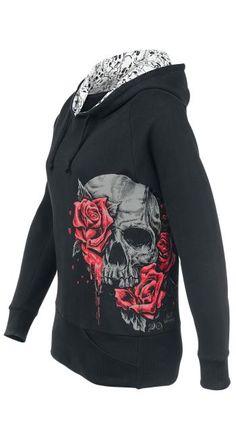 Skull & Roses Hooded Top by Full Volume ~ EMP