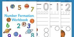 Number Formation Workbook Space - number, formation, space, write