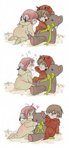 Doujinshi about Gintama. Mostly OkiKagu more than . Anime Chibi, Kawaii Anime, Manga Anime, Anime Cosplay, Okikagu Doujinshi, Gintama, Cute Anime Coupes, Romantic Manga, Anime Love Couple