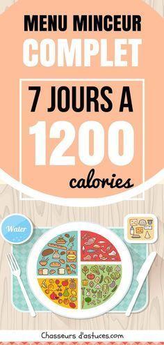 Quand on souhaite perdre rapidement quelques kilos, un régime hypocalorique à 1 200 calories par jour peut être une excellente solution. Mais encore faut-il respecter scrupuleusement le nombre de calories autorisées ! Dans cet article, vous trouvez des menus complets pour toute une semaine entière. À vous les kilos en moins ! Pour maigrir et perdre encore plus de poids, faites de l'exercice quotidiennement et buvez beaucoup d'eau. #régime #perdredupoids #perdreduventre #maigrir #calories