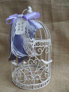 Shabby Chic Wedding Birdcage Card Holder by TheHauteBoxBoutique