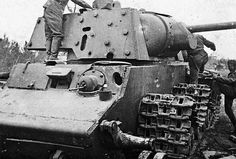 A destroyed Russian KV-1