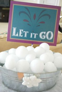 I like the idea of a snowball fight - use yarn balls instead? Fun Frozen Party Activities: indoor snowball fight using Styrofoam balls