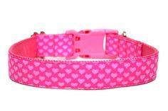 Valentines Day Heart Dog Collar by Wagologie