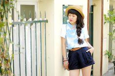 Le dressing de Leeloo avec un short Shifumi via Ben & Fakto :)