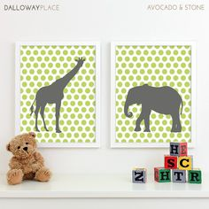 Baby Nursery Art Safari Animal Nursery Print by DallowayPlaceKids