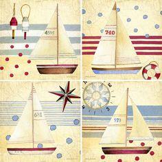 Nautical II Set of 4 Coasters