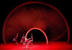 set design by the spanish born architect, artist and engineer Santiago Calatrava, for The New York City Ballet (NYCB). Peter Martins, NYCB artistic director, became intrigued with the idea of architecture as it relates to dance in form and movement.