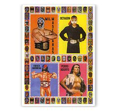 Lucha Libre Postcard | All-Pop.com | Mexican film poster art