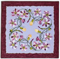 Passionflower lei quilt by Sylvia Pippen