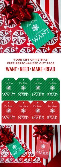 Free printable DIY gift tags