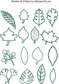 Plantillas de hojas de árbol