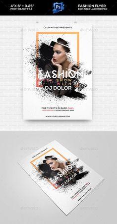 Fashion Show Flyer - Clubs & Partys Veranstaltungen - Salon marketing - Fashion Flyer Design, Design Poster, Brochure Design, Mode Club, Poster Sport, Poster Festival, Fashion Show Poster, Poster Retro, Fashion Show Invitation