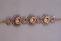 Lotus Flowers Bracelet - made with Swarovski 14 mm rivolis, Superduo beads and Miyuki seed beads.