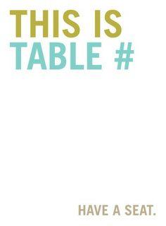 Nuff Said - Printable Table Numbers - Jenny Romanski - Dark Gray - Gray : Front 5.25x5.25 folded card
