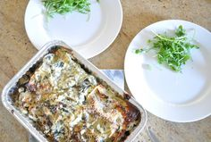Zucchini, Eggplant and Mushroom Lasagna by Michelle Bridges