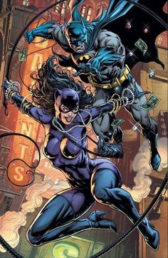 Catwoman and Batman Foto Batman, Catwoman Y Batman, Batman Y Superman, Dc Batgirl, Batman Poster, Batman Comic Art, Batman Robin, Batman Arkham, Batman Fight