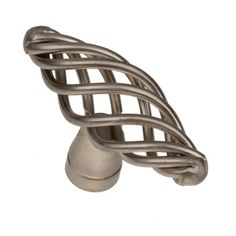 GlideRite Oval Twisted Birdcage Cabinet Knob - Satin Nickel (Pack of (Satin Nickel), Silver Refinish Kitchen Cabinets, Kitchen Cabinet Hardware, Cabinet Knobs, Drawer Knobs, Cupboard, Classic Cabinets, Types Of Lighting, Nickel Silver, Home Decor Kitchen
