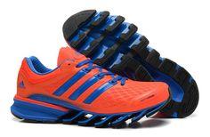 Wholesale Adidas 2014 Springblade II Orange Blue Men's Running shoes For Women