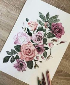 That would be great as a half sleeve tattoo … - Flower Tattoo Designs Trendy Tattoos, New Tattoos, Cool Tattoos, Bicep Tattoos, Female Tattoos, Tribal Tattoos, Tatoos, Rose Hip Tattoos, Thigh Tattoo Flowers