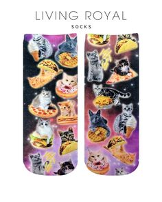 Cat and Snacks Ankle Socks