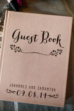 Unique wedding guest book ideas.
