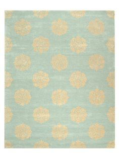 @Nicole Polo    Floral Medallion Hand-Tufted Rug by Safavieh on Gilt Home