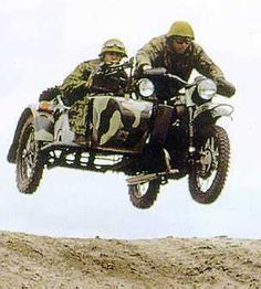 Ural Motercycle airborn