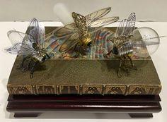 by Dawn Morehead Steampunk Gears, Altered Books, Dawn, Book Art, Light Bulb, Dioramas, Light Globes, Lightbulb