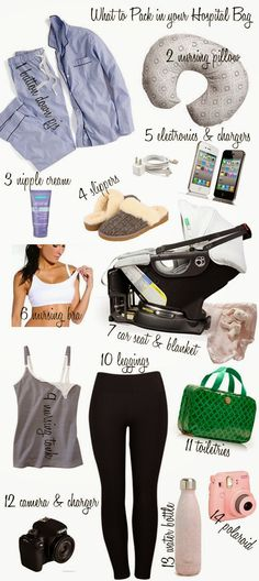 Cella Jane / What to Pack in Your Hospital Bag. Delivery Hospital Bag, Pregnancy Hospital Bag, Packing Hospital Bag, Hospital Bag Essentials, Baby Delivery, Hospital Bag Checklist, Newborn Essentials, Csection Hospital Bag, Special Delivery