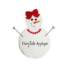 Digital Machine Embroidery Design   Snowgirl by FairytaleApplique, $3.99