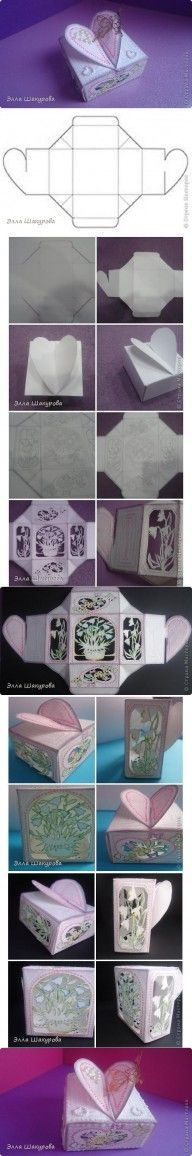 DIY Single Sheet Heart Box DIY Projects