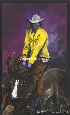 "Black Art- ""Ride Sista"" Black Cowboys, Black Art, Master Chief, Fictional Characters, Black Jeans, Fantasy Characters, Dark Art"