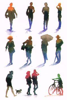 Watercolor Art Landscape, Watercolor Art Lessons, Watercolor Sketchbook, Watercolor Artists, Watercolor Techniques, Watercolour Painting, Painting People, Drawing People, Figure Painting