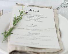 """Menükarte""""calligraphic chique""""   Papierhimmel   Hochzeitseinladungen"""